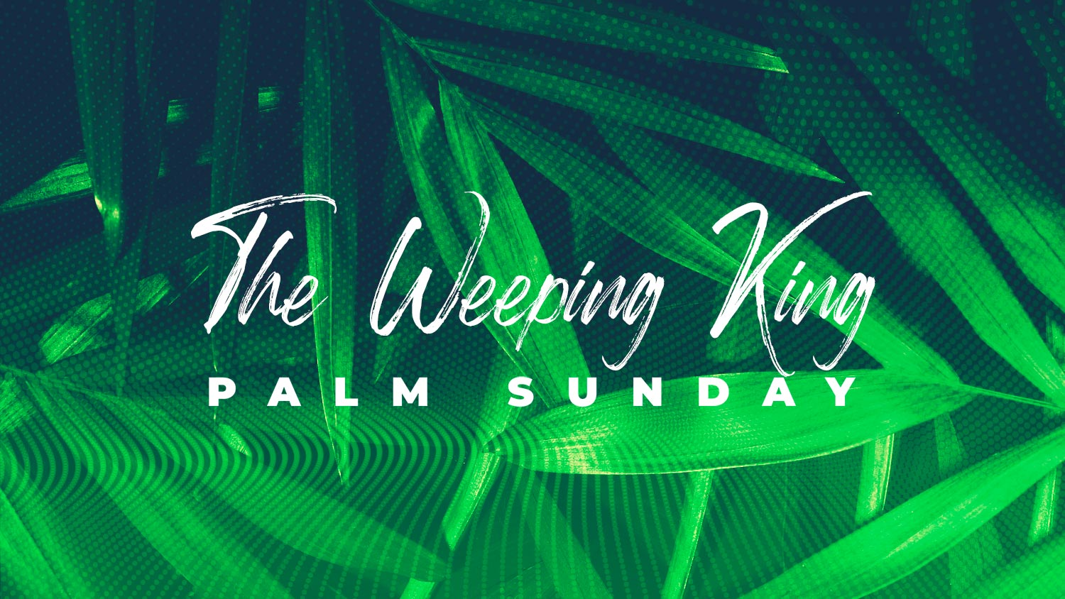 The Weeping King - Palm Sunday Image